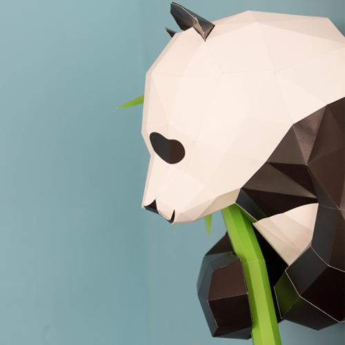 【预购】diy 动物纸模型 - 熊猫